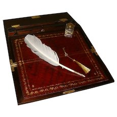 Inlaid Rosewood Writing Box. C1850