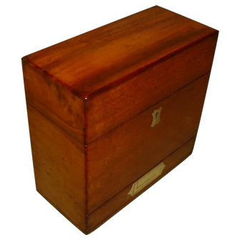 Solid Mahogany Apothecary Box. Front Drawer. Original Lining. C1850