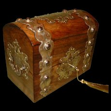 Fine Quality Stationery Box. Unusual Features. C1880