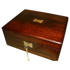 Inlaid Rosewood Jewelry – Table Box. C1850