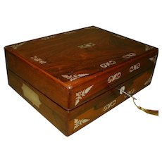 Inlaid Rosewood Writing Box. C1850