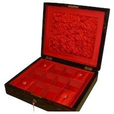 QUALITY Inlaid Coromandel Jewellery Box. C1870