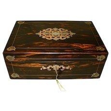 QUALITY Inlaid Coromandel Writing Box. C1865