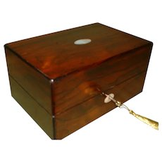 Mechi & Bazin Fitted Rosewood Dressing Box. C1865