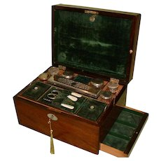 Fitted Ladies Rosewood Dressing – Jewelry Box. C1870