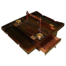 Rosewood Standish + Accessories. C1840