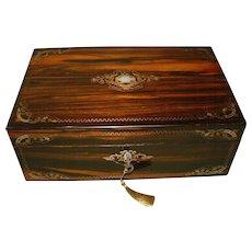 Exquisite Quality Inlaid Coromandel Writing Box. C1860