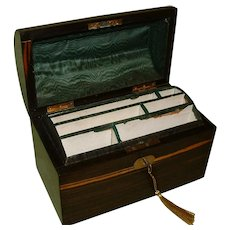 Inlaid Coromandel Stationery Box. C1875