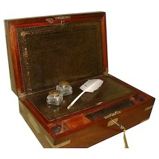 Lund Solid Mahogany Georgian Writing Box. C1830