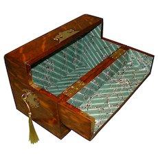 Unusual Figured Oak Table Box. C1887.