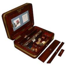 Rare Solid Mahogany Writing Box / Jewellery Box.  C1840