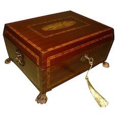 Inlaid Mahogany Jewelry – Table Box. C1860