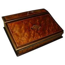 French 'Tahan' Marked Inlaid & Edge Bound Writing Box. C1872