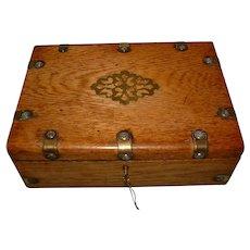 Oak Jewelry – Table Box. C1880