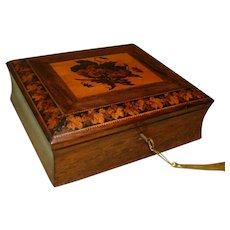 Genuine Tunbridge Ware Mosaic Writing Box. c1870