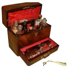 Godfrey & Cooke Solid Flame Mahogany Apothecary Box. c1850