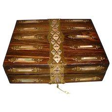 Quality Coromandel Writing Box. c1880