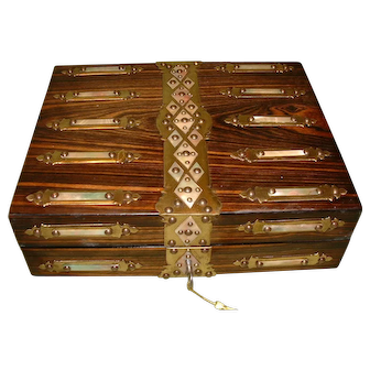 Quality Coromandel Writing Box. c1880