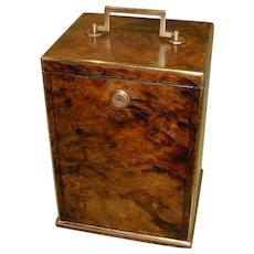 Quality Fully Edge Bound Walnut Box. c1875.