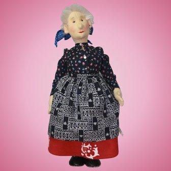 "17"" Steiff Replica Peasant Woman Doll 1987-88"