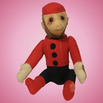 "9"" Schuco Yes/No Bellhop Toy Monkey circa 1930s"