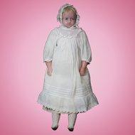 "19 1/2"" Pierotti Wax Doll circa 1850"