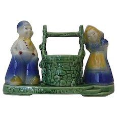 """Shawnee Dutch Girl & Boy Planter """"Wishing Well"""""""