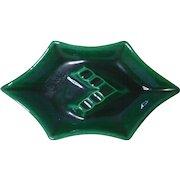 Royal Haeger Green Agate Ashtray