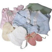 Vintage Infant Clothing and Wool Blanket