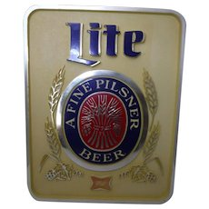 Vintage Beer Sign - Miller Lite c 1970's