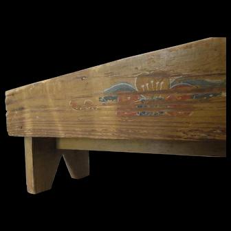 Folk Art Hand Made Cricket/Foot Stool ala Pennsylvania Dutch Country
