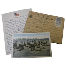 WWI Picture Post Card - Life in the U.S. Army Cantonment