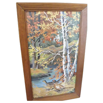 Vintage Paint by Numbers Framed Pictures