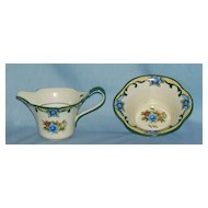 Noritake sugar and creamer