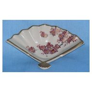 Satsuma fan-shaped nut dish or ash tray