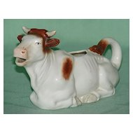 Brown and White Cow Creamer