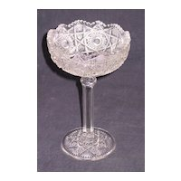 High Standard  Pattern Glass Compote