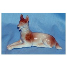 German Shepherd dog figurine