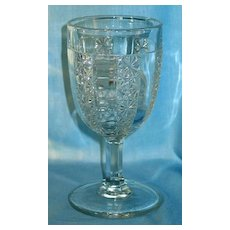 EAPG Prism and Daisy Bar Goblet
