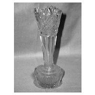 Early American Pattern Glass Bud Vase