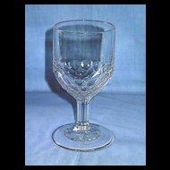 Laredo or New York Honeycomb Pattern Glass Goblet