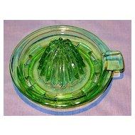 Hocking Green Depression Glass Reamer Top