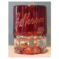 Ruby Stained Miniature Mug  E. Herron 1912