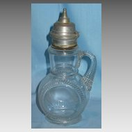 Early American Pattern Glass Pilgrim Syrup Jug Central Glass