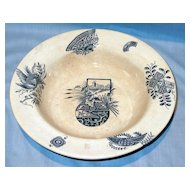 Staffordshire Aesthetic Blue and White Bowl Mikado