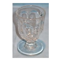 Mirror and Loop Pattern Glass Egg Cup or Squat Wine