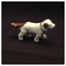 Bisque dog figurine