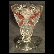 Pattee Cross Vase with Rose Stain