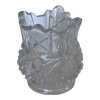 EAPG Sunbeam pattern toothpick holder, McKee Glass c1898