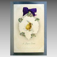 Joyous Easter with Coralene, Glitter and Ribbon Add-ons